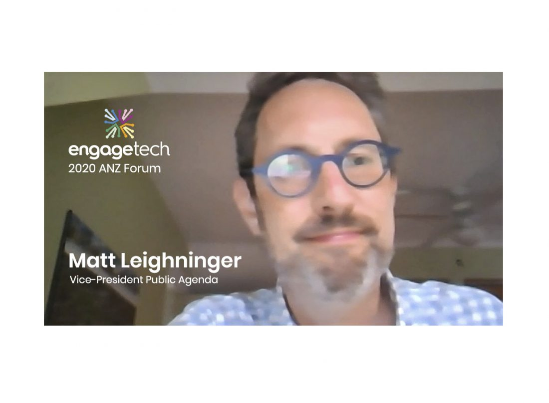Matt Leighninger at 2020 ANZ EngageTech Forum