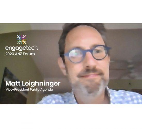 Matt Leighninger at 2020 ANZ EngageTech Forum